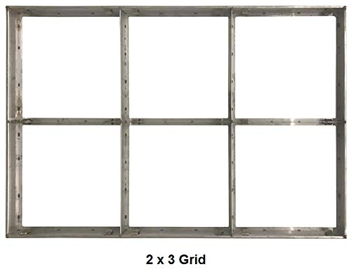 AgFinium Industrial Filter Grid Frame Fits 3 Filters 24x24 and Pre Filters