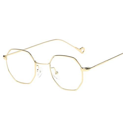 Lunettes de soleil,LHWY Structure irrégulière en métal à la mode lunettes lunettes de soleil classiques neufs Or