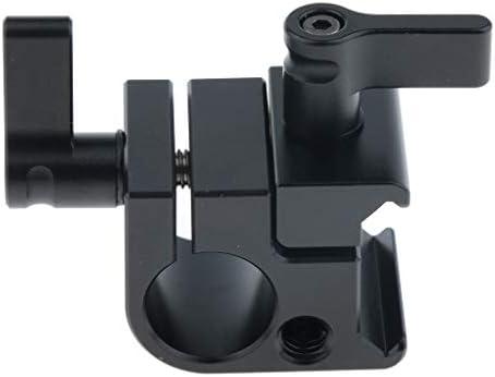 KESOTO 15mmロッドクランプ ビデオカメラ DSLRリグ ホットシュー付き シングルレールブロック