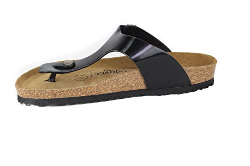 Women N Metallic Black Slippers Softbedded Soft Sandals JOE Footbed Rio Metallic JOYCE SynSoft qEfPdp