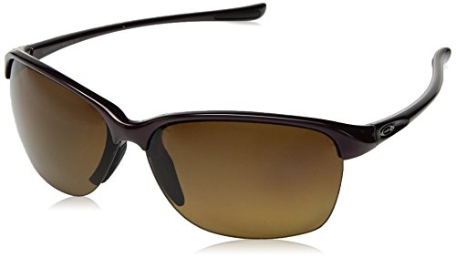 Oakley Women's Unstoppable Non-Polarized Iridium Rectangular Sunglasses, CRYSTAL RASPBERRY, 65 ()