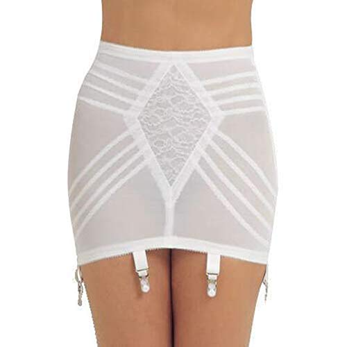 Rago Style 1359 - Open Bottom Girdle Firm Shaping, XL/32 White ()