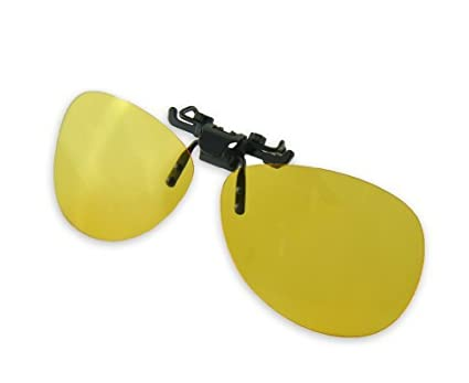 4448a8b36dd Image Unavailable. Image not available for. Color  Yellow Night Vision  Retro Polarized Clip-on Flip-up AVIATOR Plastic Sunglasses Driving Traveling