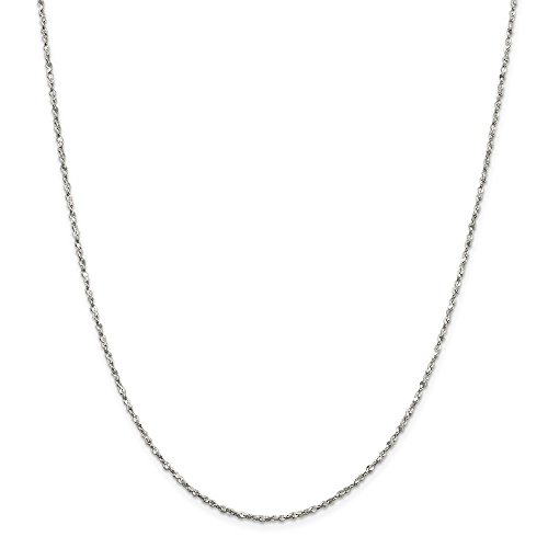 Jewel Tie 925 Sterling Silver 1.8mm Twisted Serpentine Chain Necklace 18
