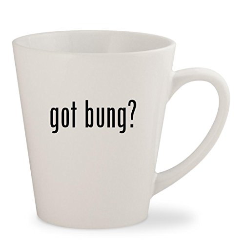 got bung? - White 12oz Ceramic Latte Mug Cup