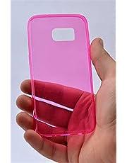 Zore 3403 Galaxy S7 ile Uyumlu Kılıf, Ultra İnce Silikon Kapak, 0.2 mm, Pembe