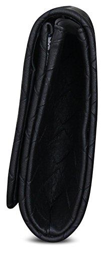 PiriModa - Cartera de mano de Otra Piel para mujer 27x18x6cm negro