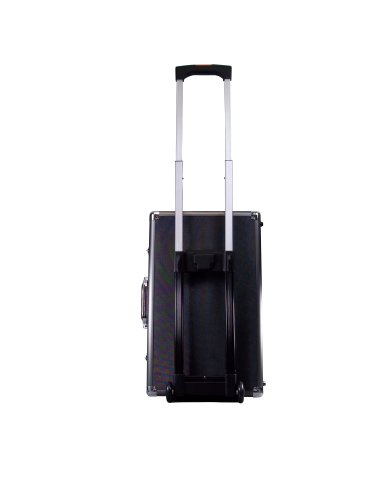 Ape Case Extra Large Aluminum Case with Foam, Rolling Aluminum Suitcase, Aluminum Travel Case, Luggage Case, TSA Padlock Ready, Internal Dimensions 20.75 by 12.6 by 6.5, Black and Grey
