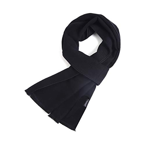 FULLRON Men Cashmere Scarf Long Warm Black Scarves for Winter
