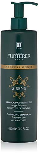 Rene Furterer 5 SENS Enhancing Shampoo, Safflower, Sweet Almond, Avocado, Castor & Jojoba Oil, Pump, 20.2 oz.