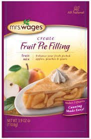 Mrs. Wages Fruit Pie Filling Mix - 4 (four) - 3.9 oz packets by Mrs. Wages by Mrs. Wages