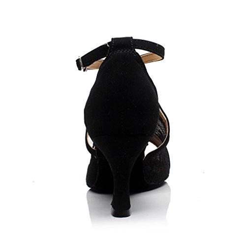 Dance Cheville Noir Synthotic Minitoo En Maille Qj7031 Boucle nbsp;femme Latin Wrap Chaussures waqzOqXf