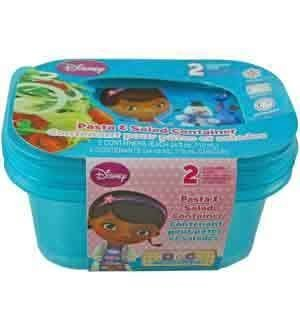 (Doc McStuffins Salad Container 2pc [5 Retail Unit(s) Pack] - 72029)