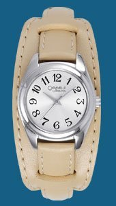 Bulova Caravelle Watch - 43L83 Beige Leather Strap - Ladies Watch