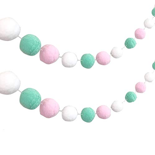 Set of 2 Assorted Pastel Pink Mint Green White Small 1.6