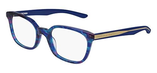 Balenciaga BB0027O Eyeglasses 004 Multicolor-Light Blue 51mm