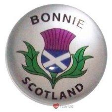 - iLuv Fridge Magnet Bonnie Scotland Thistle Crystal