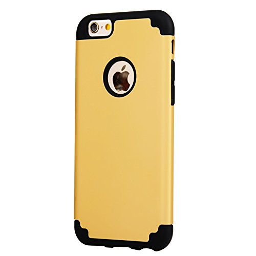 iPhone 6/6s Case, iBarbe Slim fit Hybrid Rubber PC Shockproof Heavy Duty Protection Case with soft Inner Protection Reinforced Hard Bumper Frame for Apple iPhone 6 6s (4.7 inch) -