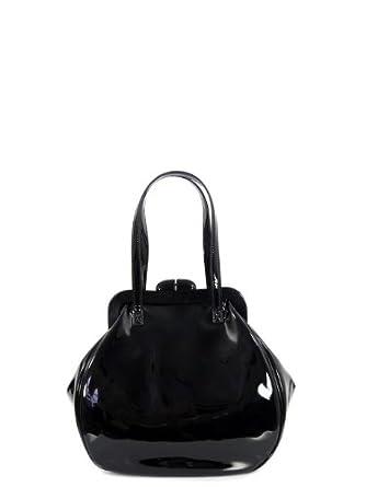 Lulu Guinness Large Pollyanna Black Patent Leather Bag OS  Amazon.co.uk   Clothing 6f500c7f027f5