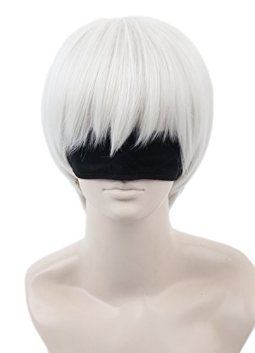 Topcosplay Halloween Costume Cosplay Wig with Bangs Short Wig 9s