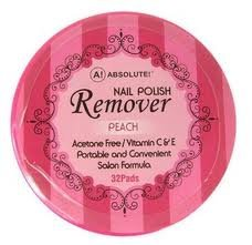 4 Piece Nail Polish (Absolute Nail Polish Remover Pads Peach Scent - 4 pieces)