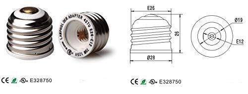 Halica 50pcs PBT E26 to E12 Holder Converters For light Bulb
