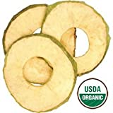 Organic Dried Sweet Apple Rings, 2.5lbs