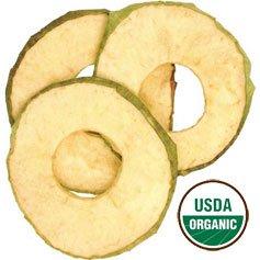Organic Dried Sweet Apple Rings, 2.5lbs