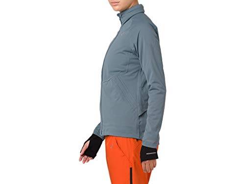 ASICS 2012A018 Women's System Jacket, Ironclad, Small by ASICS (Image #3)