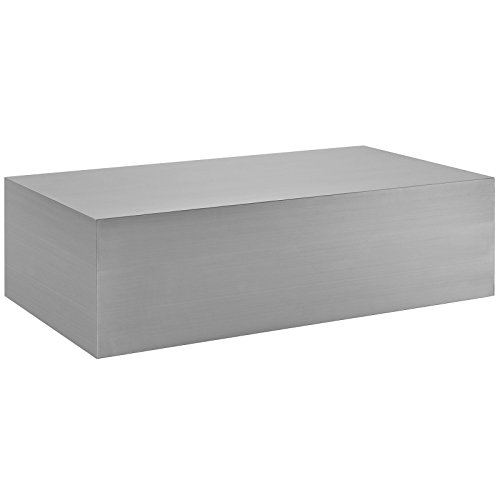 Modway Cast Stainless Steel Coffee Table in - Metal Table Cast Coffee