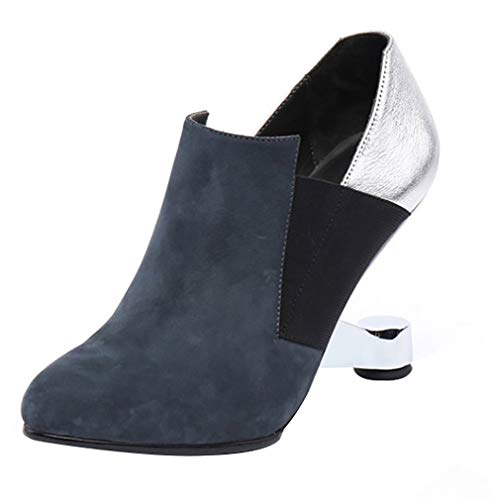 Court On Calaier Shoes Toe Heteromorphic LIDA Pull 9CM Heel Blue Round Women qFpqBwn7A
