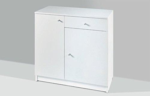 Bianco Opaco cm L70 assemblato Tosend Servizi sas Mobile 2 sportelli 1 cassetto