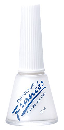 Renova Esmalte para Unas Manicure Frances, color Blanco, 13 ml
