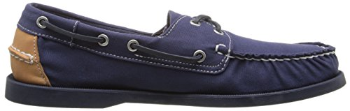Boat Tan Shoe Canvas Sebago Men's Spinnaker Lea Navy vECwxgqH