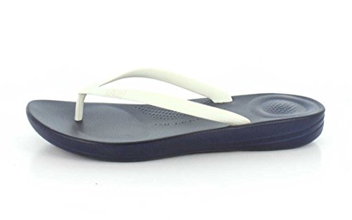 Flops FitFlop iQUSHION Femme Ergonomique Marine Blanc Flip w0IHPSqxI
