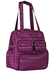 Lug Womens Puddle Jumper Overnight/Gym Duffel Bag, Berry Purple, One Size