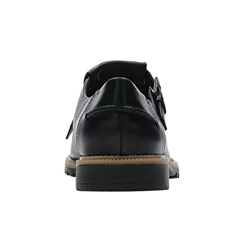 CLARKS Clarks Griffin Mia Black Leather 4.0 E