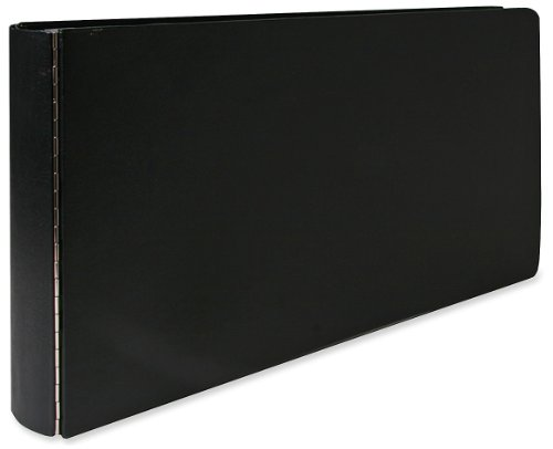 Wilson Jones 344 Line Casebound 3 Ring Binder with DubLock Ring, 2-Inch Capacity, 11 x 17 Inches Sheet Size, Black (W344-90)