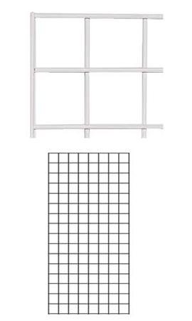 2 x 4 Foot White Wire Grid Panel - 3'' on Center ¼'' Thick