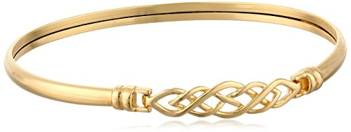 14k Yellow Gold Celtic Catch Bangle Bracelet, - Celtic Bracelet Bangle