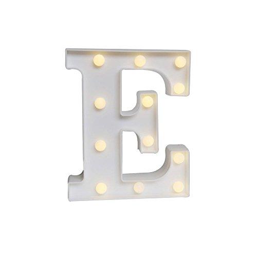 Mystery&Melody LED letra decorativa lámpara luz LED alfabeto blanco sólido letras para fiesta boda decoración luz (6)
