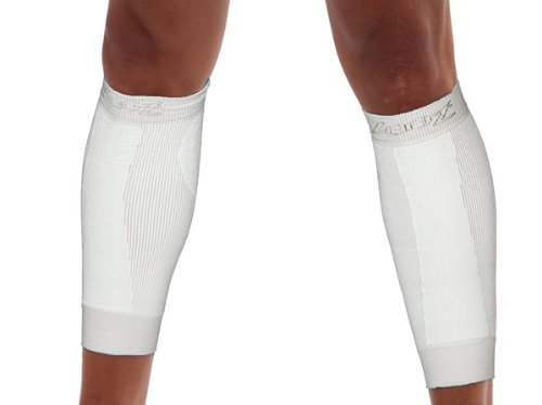 Zoot Compressrx Ultra Active Calf Sleeve, White, 4 ()