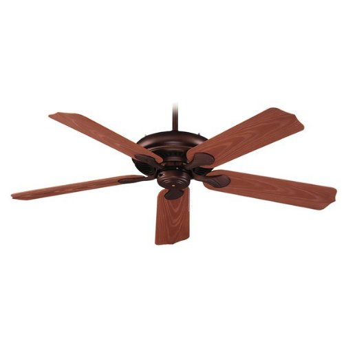 Royal Pacific 1017W-OB-ES Torrent 5-Blade 52-Inch Ceiling Fan, Oil Rubbed Bronze with Weathered Oak Grain ABS Blades For Outdoor, Energy Star Rated