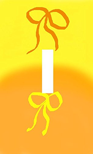 Orange Yellow Bow Art Abstract Single Light Switch Plate Wall Art ...