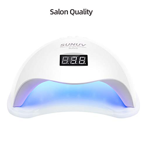 UV LED Nail Lamp, SUNUV UV LED Nail Polish Dryer Gel Machine for Manicure and Pedicure with Sensor and four Timers SUN5