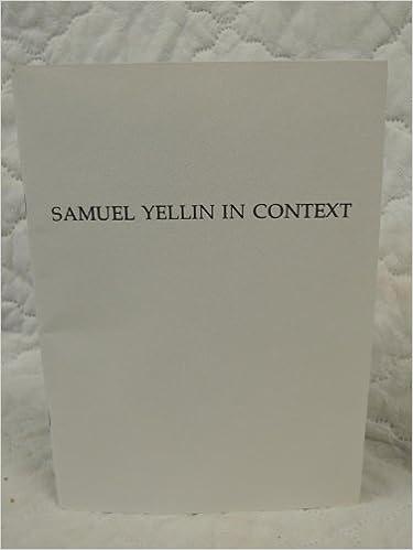Book Samuel Yellin in Context