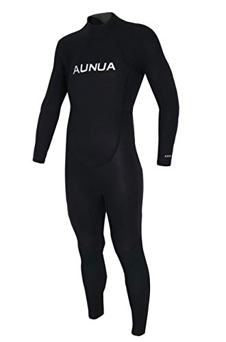 Aunua Youth 3/2mm Neoprene Wetsuits for Kids Full Wetsuit Swimming Suit Keep Warm(7031 Black 10)