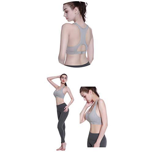 Mujer Rapido Sujetador Absorción Impactos Mujeres Para Las Secado Sets Sostén 3 Forma Gray La Actividad En De Deportivo PEEBq7I