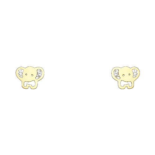 Elephant Gold Earrings - 7