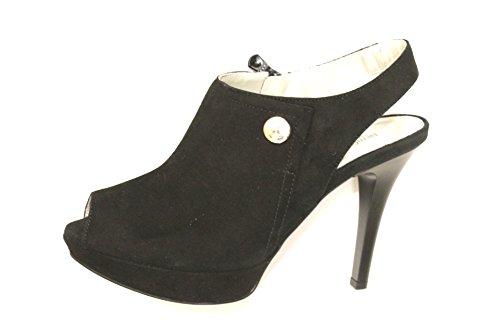 sandalo accollato nero giardini cerniera camoscio nero n 37